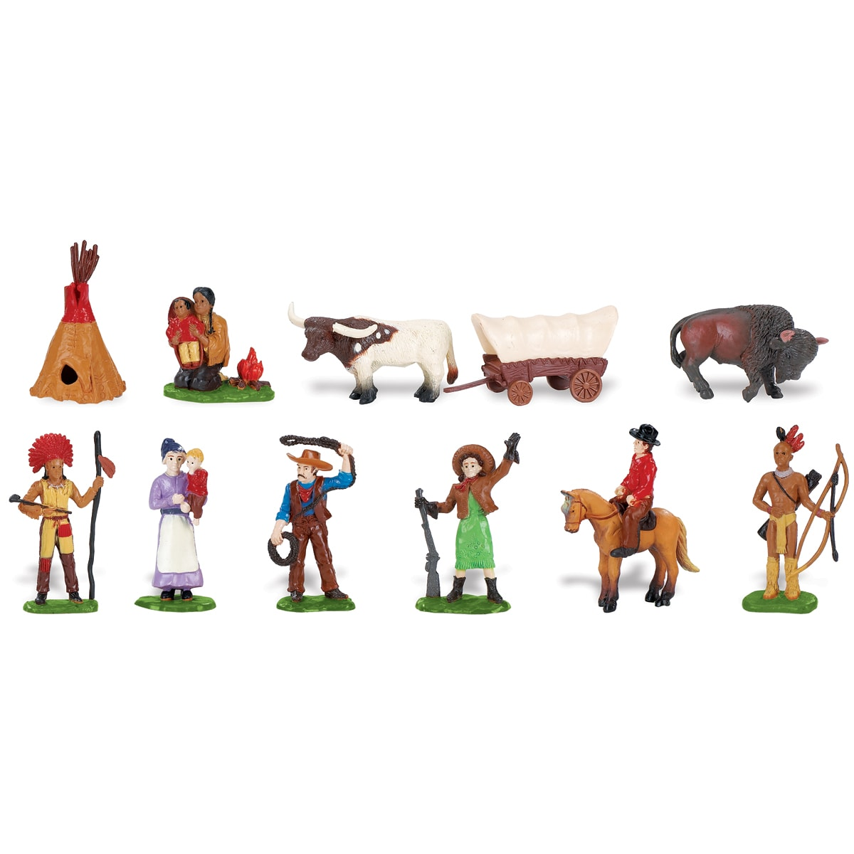 Wild West Plastic Miniatures In Toobs