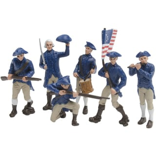 American Revolutionary War Continental Plastic Miniatures In Toobs