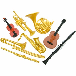 Musical Instruments Plastic Miniatures In Toobs