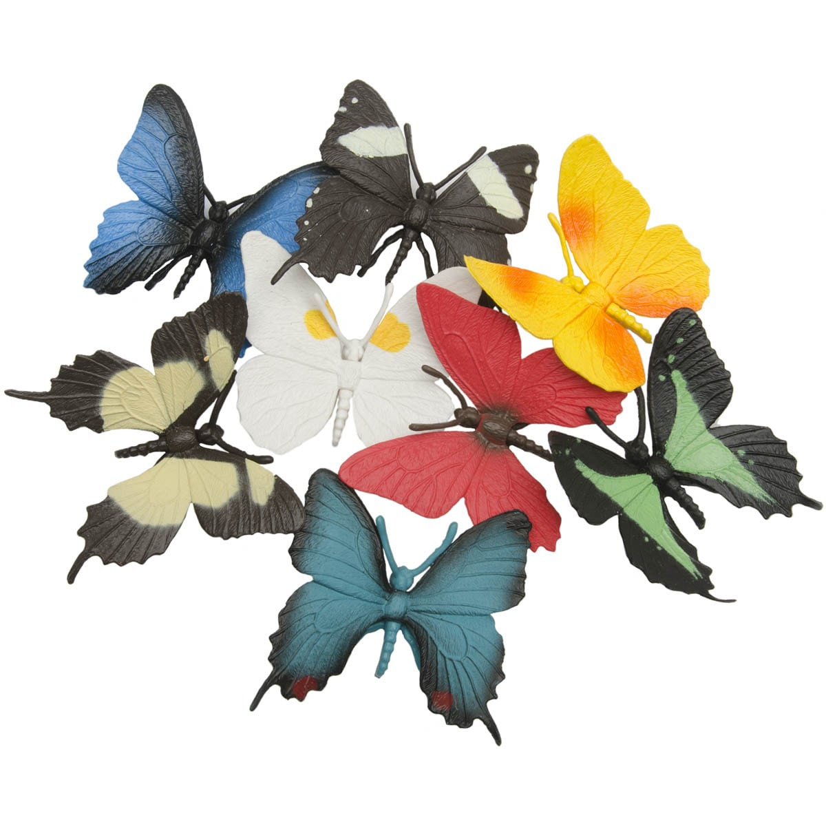 Butterflies Plastic Miniatures In Toobs
