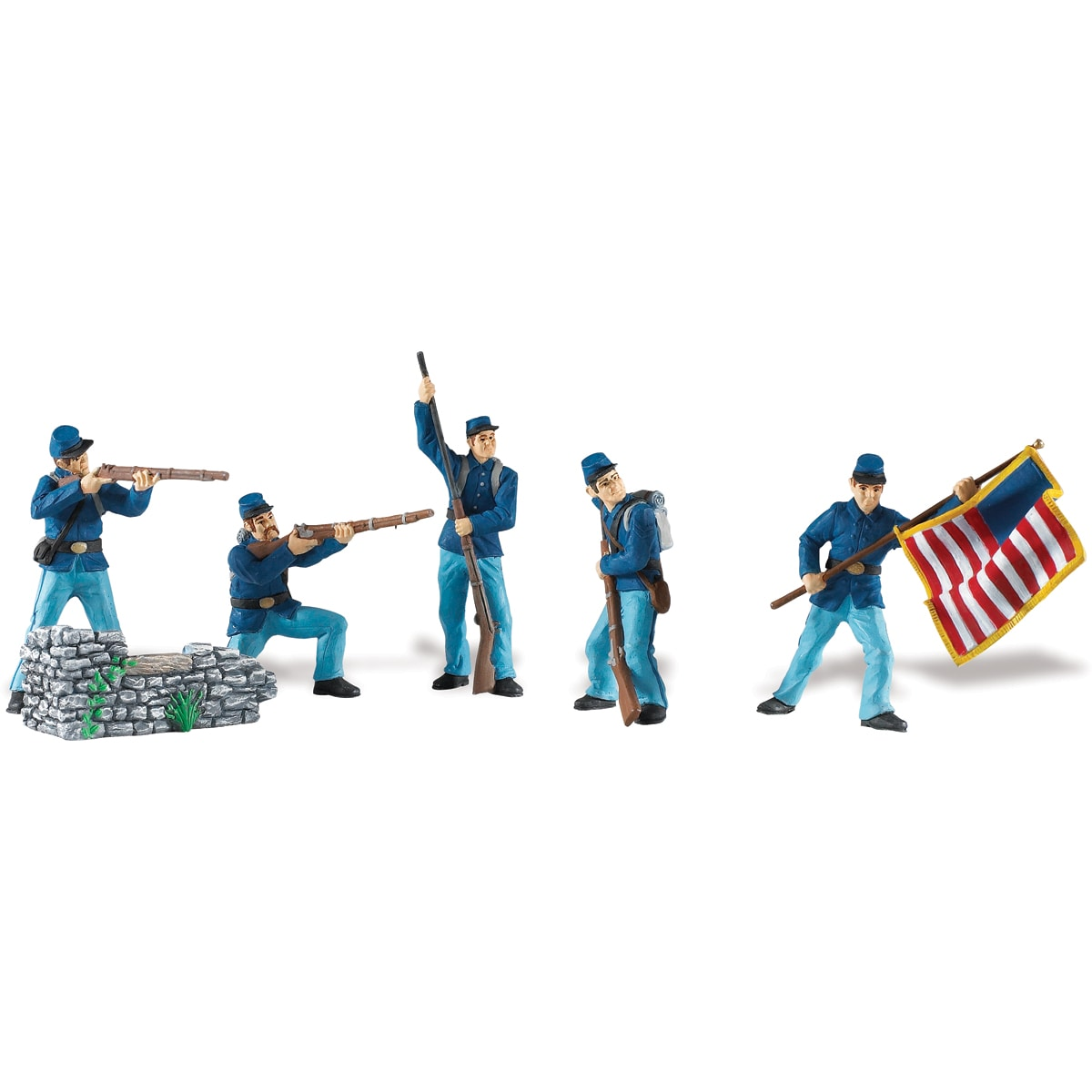 Civil War Union Soldiers Collection 1 Plastic Miniatures In Toobs