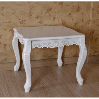 International Caravan Antique White End Table