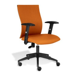 Jesper Office Orange Office Chair with Arms