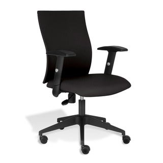 J & K Black Office Chair with Arms