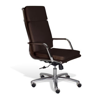 J & K Alfred Brown High Back Office Chair
