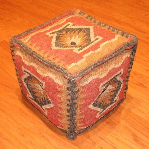 Handmade Kilim Puff Ottoman