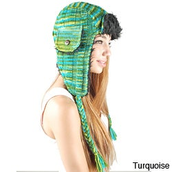 Cotton Knit Aviator Hat (Nepal)