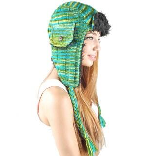 Cotton Knit Aviator Hat (Nepal)