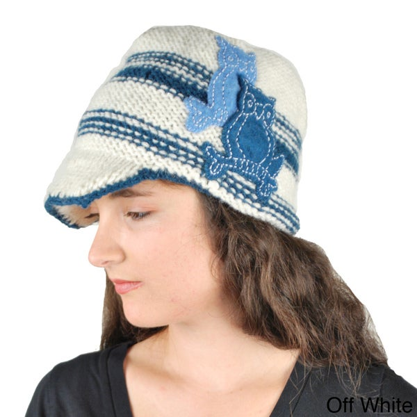Twin Owl Newsboy Hat (Nepal)