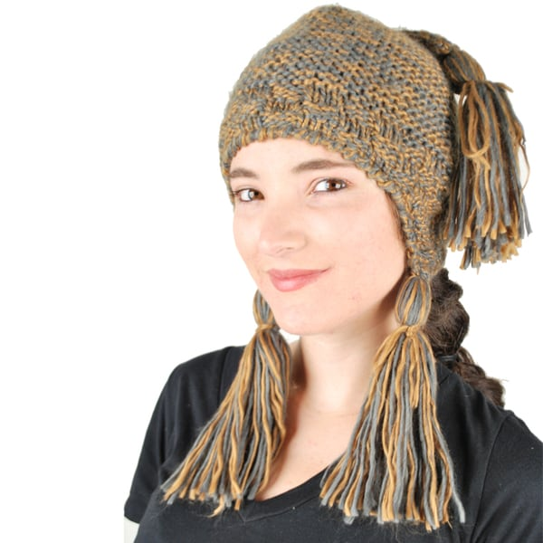 Two-Tone Tassel Hat (Nepal)