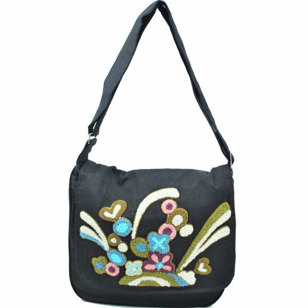 Love Fireworks Embroidered Messenger Purse (Indonesia)