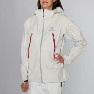 Arc'teryx Women's 'Alpha S'L Nimbus White Shell Ski Jacket (L)