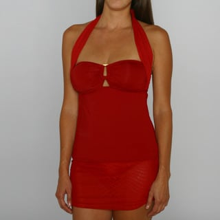 Jantzen Dock of the Bay Red Tankini and Swim Skirt Bottom