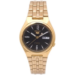 Seiko Mens 5 Goldtone Stainless Steel Watch