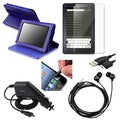 BasAcc Case/Screen Protector/Headset/Cable Bundle for Amazon Kindle Fire