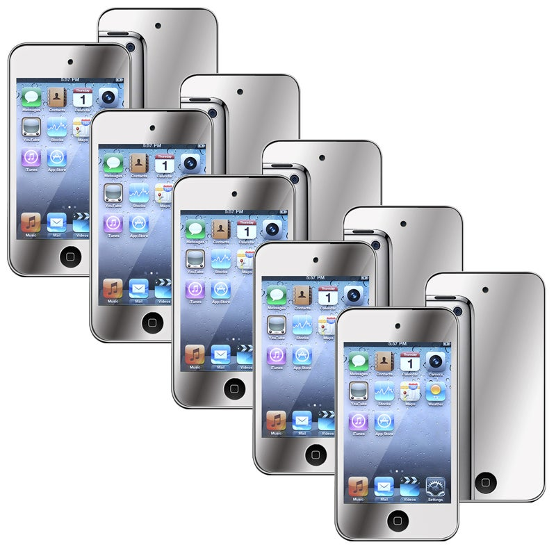 BasAcc Mirror Screen Protector for Apple iPod Touch Generation 4 (Pack of 5)