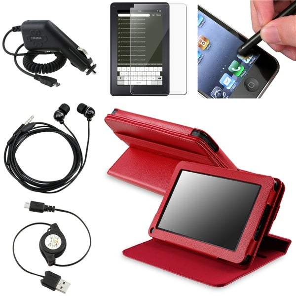 BasAcc Case/ Screen Protector/ Headset/ Cable for Amazon Kindle Fire