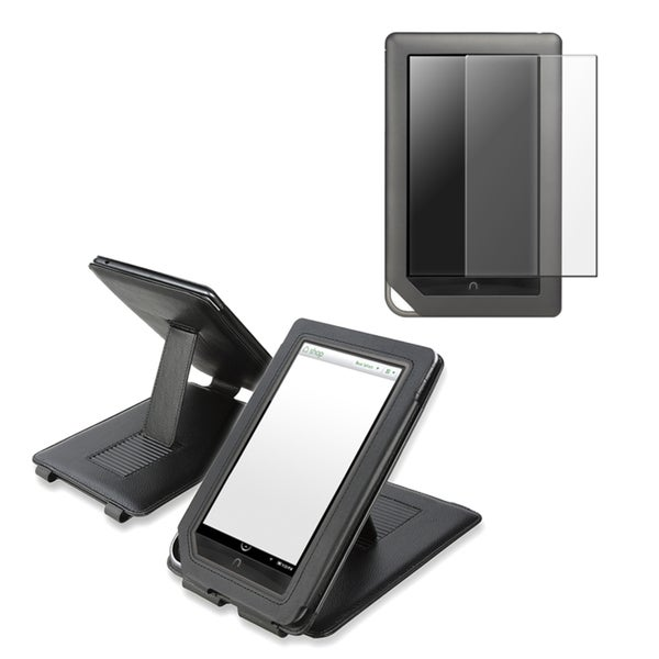 INSTEN Black Phone Case Cover/ Screen Protector for Barnes & Noble Nook Color