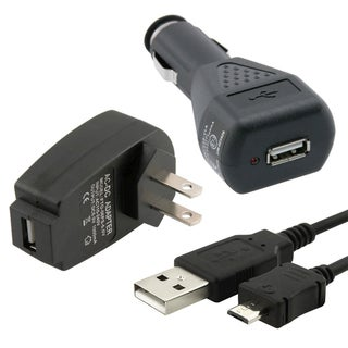 BasAcc Travel/ Car Charger/ USB Cable for Amazon Kindle Fire