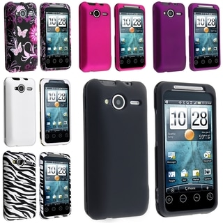 BasAcc Black/ Pink/ White Rubber Case/ Zebra Case for HTC EVO Shift 4G