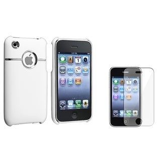 BasAcc White Case/ Screen Protector for Apple� iPhone 3G/ 3GS