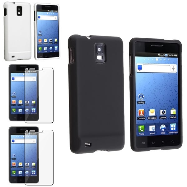 BasAcc Black/ White Case/ Screen Protector for Samsung© i997 Infuse 4G
