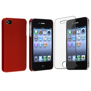 BasAcc Red Case/ Screen Protector for Apple� iPhone 4/ 4S