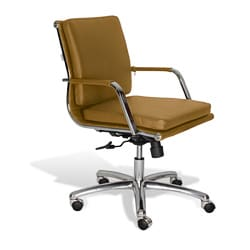 J & K Mustard Alfred Low Back Office Chair