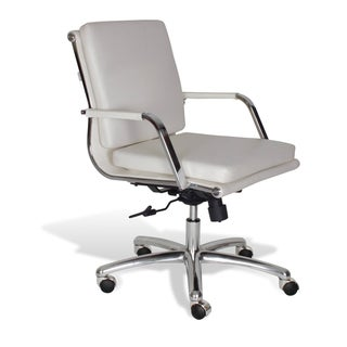 J & K Alfred White Low Back Office Chair