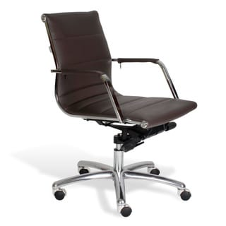J & K Brown Modern Low Back Office Chair