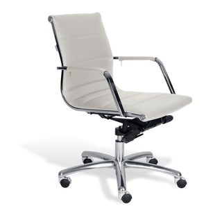 J & K White Modern Low Back Office Chair