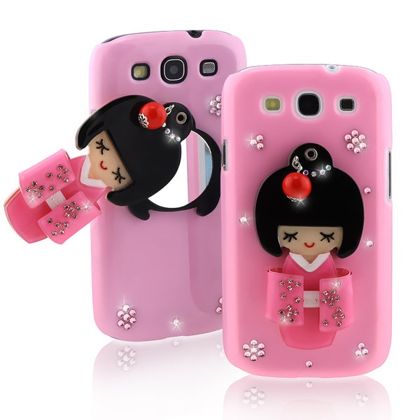 Light Pink Kimono Girl Mirror Case for Samsung Galaxy S III i9300