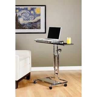 Studio Designs Clear Glass Laptop Cart
