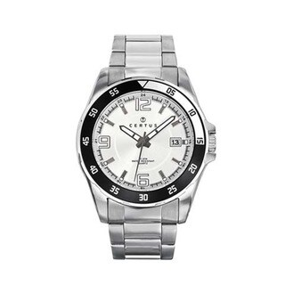 Certus Paris Stainless Steel Men's Silver Dial Luminous Hands Watch