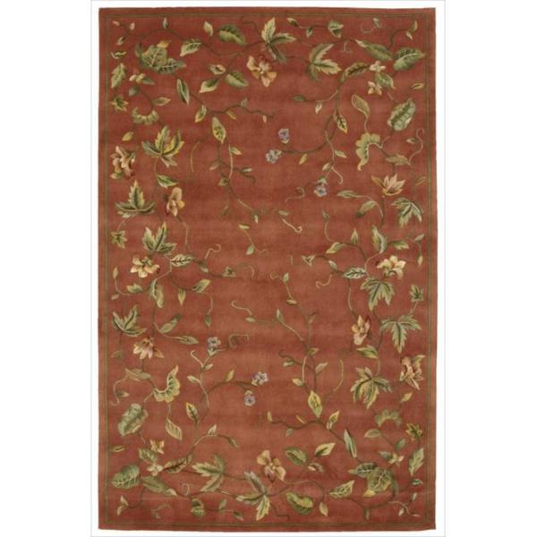 Nourison Hand tufted Julian Floral Spice Rug (5'3 x 8'3)
