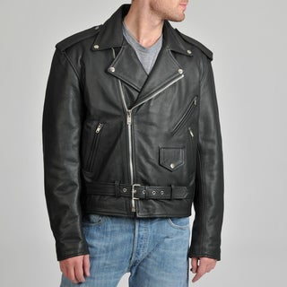 Excelled Men's Leather Classic Style Motorcycle Jacket
