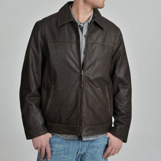R&O Men's Rugged Leather Jacket