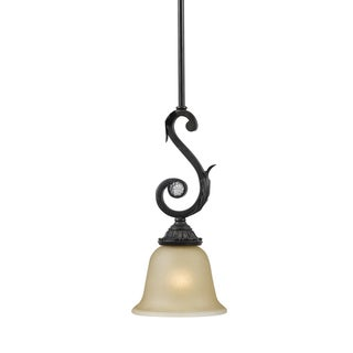Winslow 1 light Dark Rust Mini Pendant