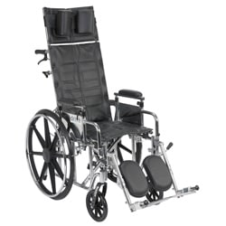 Sentra Reclining Wheelchair with Various Arm Styles and Elevating Leg Rest