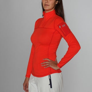 Arc'teryx Women's 'Rho' Poppy Zip Neck Ski Jacket