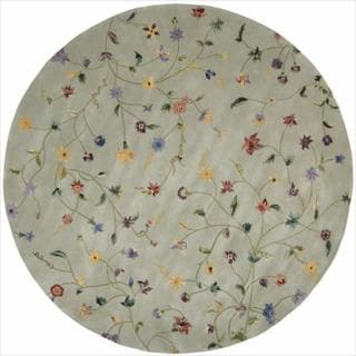 Nourison Hand-tufted Julian Light Green Wool Rug (6' Round)