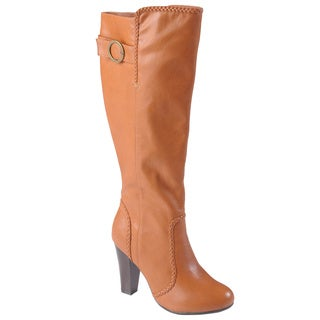 Journee Collection Women's 'Kenna' Round Toe High Heel Tall Boots