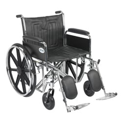 Sentra EC Heavy Duty Wheelchair with Various Arm Styles and Front Rigging Options