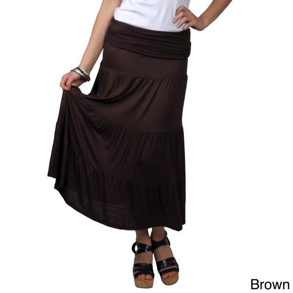 Journee Collection Juniors Long Tiered Sleeveless Skirt-Dress