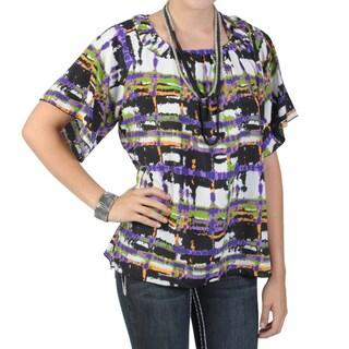Tressa Designs Women's Contemporary Plus Short-sleeve Scoop Neck Top