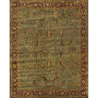 Handtufted Julie Persian Green Wool Rug (5 x 8)