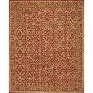 Handmade Loop Rust Wool Rug 5x8
