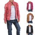 Journee Collection Kid's Crinkled Zippered PVC Leather Jacket