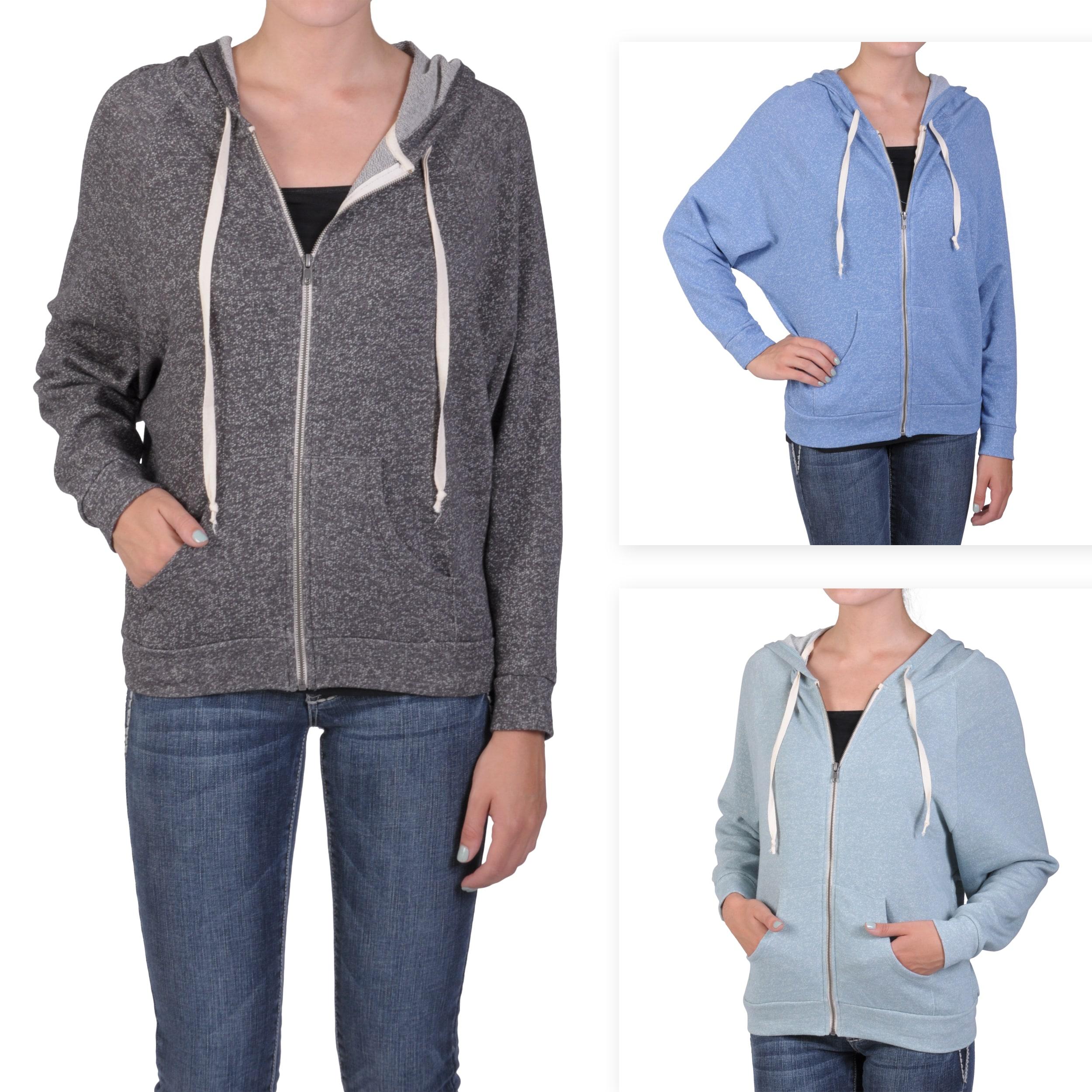 Journee Collection Juniors Zip-up Dolman Sleeve Hooded Jacket