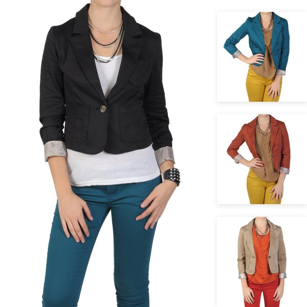 T by Hailey Jeans Co. Junior's Long Sleeve Fitted Jacket